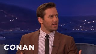 Armie Hammer's Russian Massage Video Accent  - CONAN on TBS