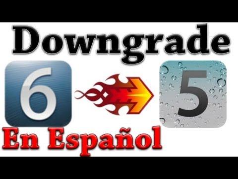 Downgrade IOS 6.0 a 5.1.1 iPhone 4/3GS iPod Touch 4 en Español