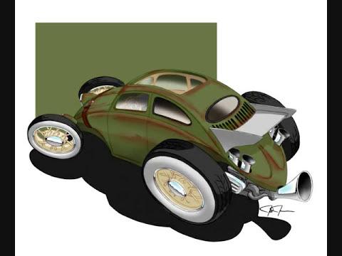 VW Bug Freedom Machine Volksrod style