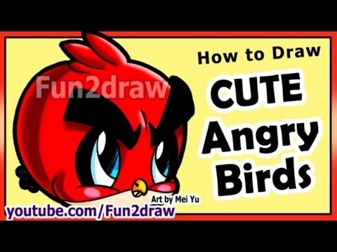 How to Draw Easy Things - Angry Birds - Game Character Art Tutorial - Best Drawing Videos Fun2draw