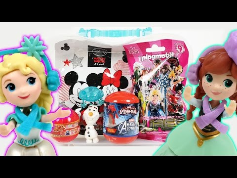 디즈니 겨울왕국 엘사 안나 선물가방과 알까기 장난감 놀이 (Disney Frozen Elsa Anna Surprise Bag Toys) - 두두팝토이