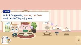 Playing happy pet story on mobile