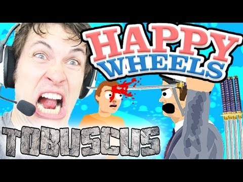 Happy Wheels - TOBUSCUS SWORD THROW