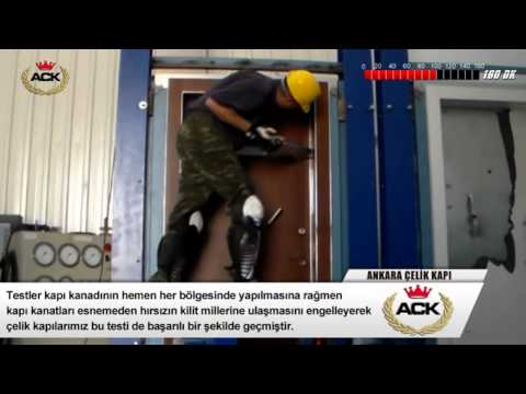 Steel Door Test, Burglary Resistance, Class 5, Security Door