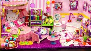 DIY Miniature Hello Kitty Dollhouse ~ Bedroom and Bathroom