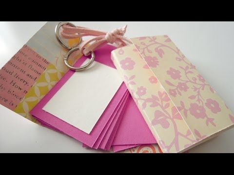 C mo hacer un mini lbum llavero manualidades para el d a - Ideas manuales para regalar ...