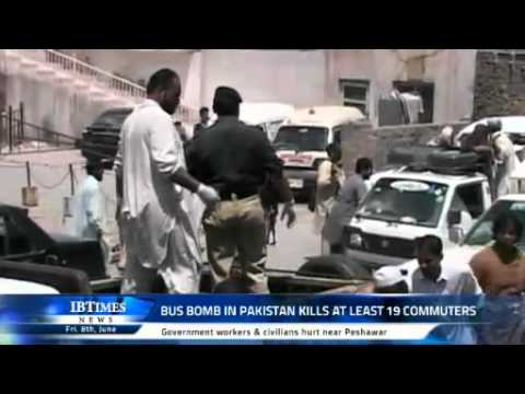Bus bomb in Pakistan kills at least 19 commuters