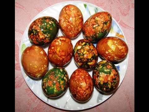 Как покрасить яйца на Пасху? Мраморные и малахитовые яйца к Пасхе