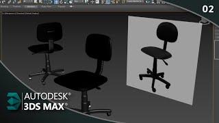 Como Modelar Cadeira de Escritório 3ds Max (Rodízio) Parte 02