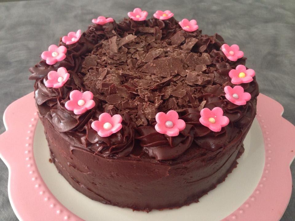 Chocolate Chiffon Cake With Whipped Cream Chocolate Chiffon Cake