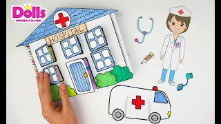 HOSPITAL PAPER QUIET BOOK DOCTOR &MEDICAL KIT CRAFTS FOR KIDS