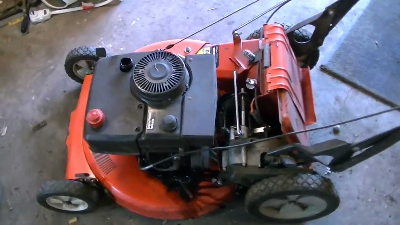 4 Wheel Drive Lawn Mower Youtube The Craftsman Quiet Front