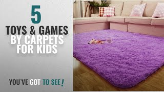 Top 10 Carpets For Kids Toys & Games [2018]: ACTCUT Super Soft Indoor Modern Shag Area Silky Smooth