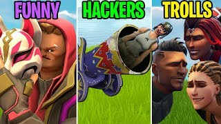 Shot from a CANNON! FUNNY vs HACKERS vs TROLLS! Fortnite Funny Moments (Battle Royale)
