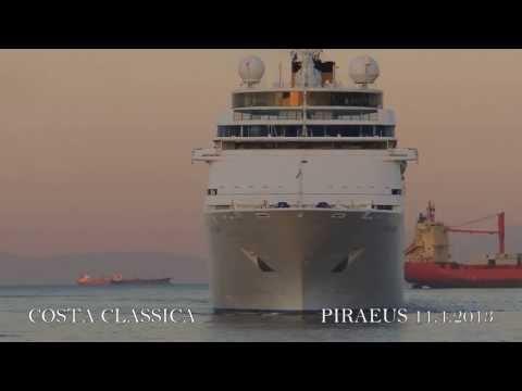 COSTA CLASSICA arrival at Piraeus Port