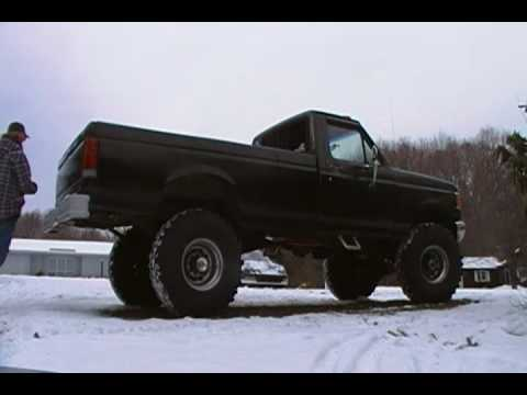 89 F250 5 8l With Shorty Headers And Glasspack Youtube