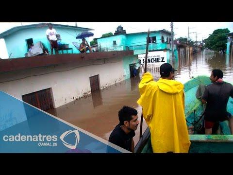 Fuertes lluvias en Durango dejan afectaciones