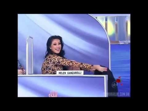 Top Five CQC - Hellen Ganzarolli quase nua ao vivo - Programa Silvio Santos