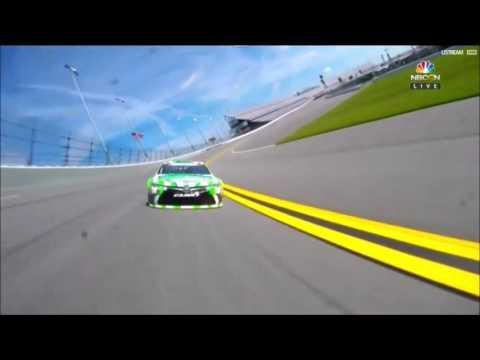 NASCAR Sprint Cup Daytona 2 2016 Practice Kyle Busch Big Crash