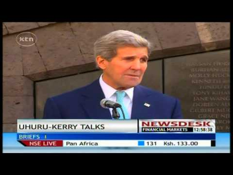 Us secretary of state John Kerry calls on Kenyans to unite in the fight against terrorism