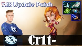 Crit - Lina Offlane | 7.18 Update Patch | Dota 2 Pro MMR Gameplay