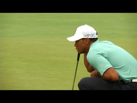 Tiger Woods' par-3 tee shot to 6 feet at The Greenbrier