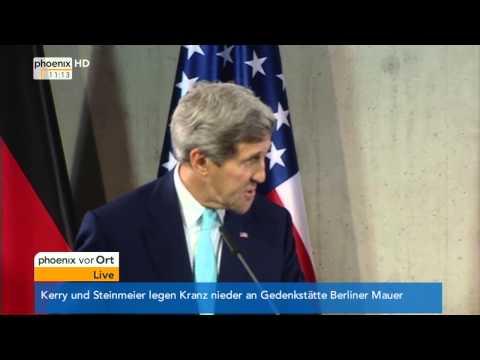 Außenministertreffen: Frank-Walter Steinmeier & John Kerry zu internationalen Krisen am 22.10.2014