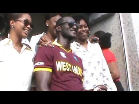 CHAMPION...   WI CAPTAIN DARREN SAMMY IN SVG FRIDAY 8TH APRIL, 2016