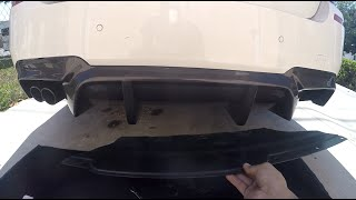 F10 5 series BMW Rear M Package Diffuser removal HOW TO