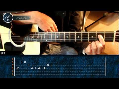 Como tocar In the End Linkin Park en Guitarra (HD) Tutorial