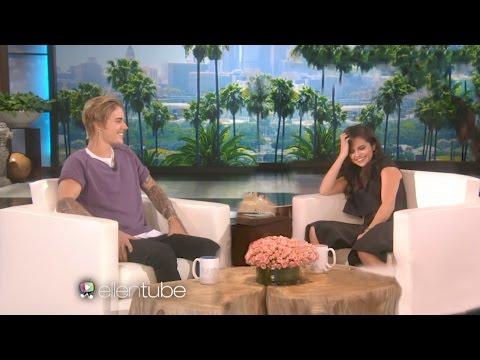 Justin Bieber And Selena Gomez on Ellen 2017