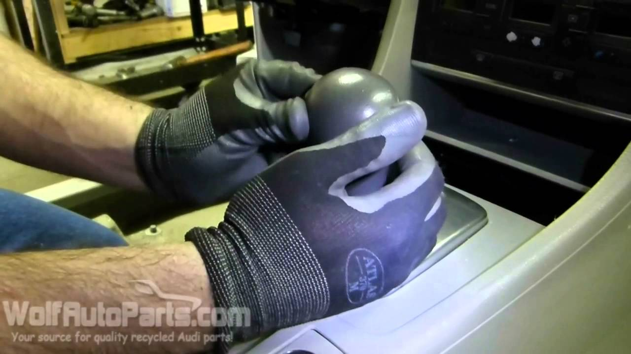 How to Remove the Automatic Shift Knob - B6/B7 Audi A4 2002-2008 (Wolf Auto Parts) - YouTube