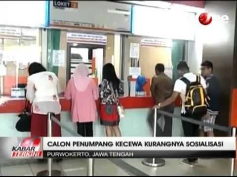 Tiket Kereta Api Tambahan Lebaran di Stasiun Purwokerto Habis Terjual
