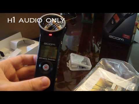 Tricorder Zoom H1 Audio Recorder Review and audio quality test unboxing