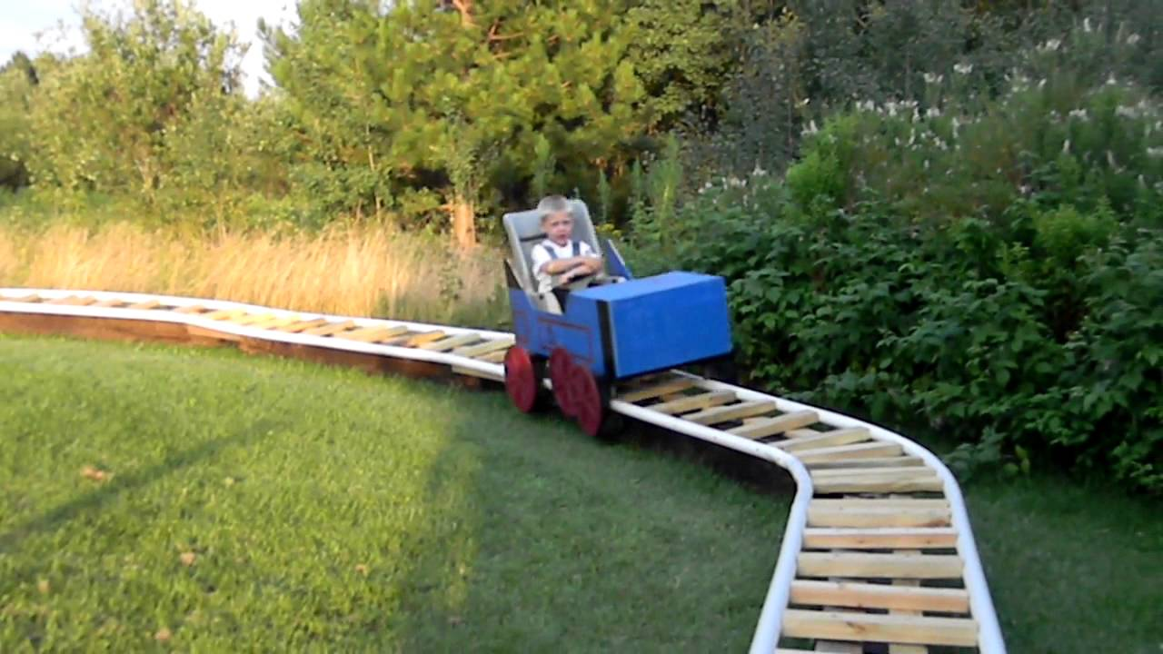 Thomas backyard Coaster  YouTube