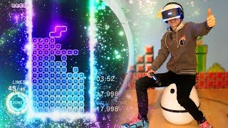 NEXT LEVEL TETRIS IN VIRTUAL REALITY! | Tetris Effect: VR Demo (PSVR + VRGO Gameplay)