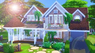 LARGE PRETTY FAMILY HOME | Speed Build | The Sims 4: Traditional SUBURBAN HOUSE