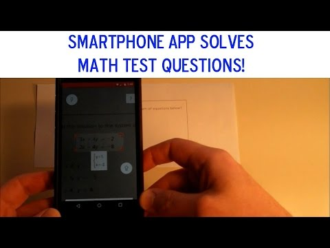 Watch This Smartphone App Solve Math Problems (Sample Common Core Exam)