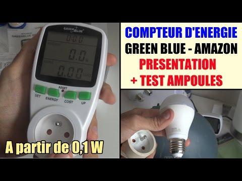 compteur de consommation lectrique amazon green blue gb202 test avis wattmetre