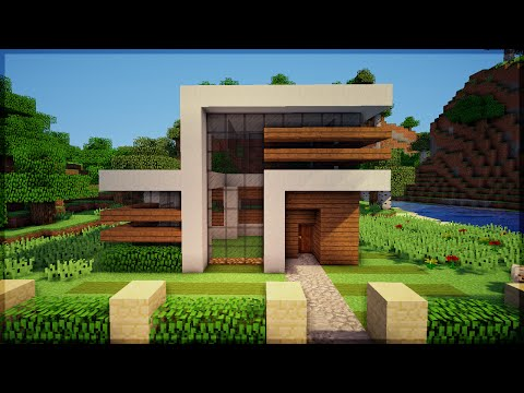 Minecraft construindo uma pequena casa moderna 7 video for Casa moderna minecraft pe 0 10 5
