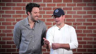 Ben Affleck & Matt Damon Take Shots at Each Other // Omaze