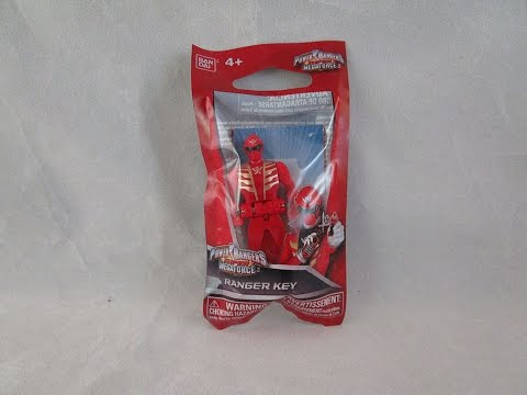 Power Rangers Super Megaforce Red Ranger Con Freebie Key Review