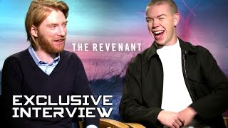 Domhnall Gleeson and Will Poulter Exclusive Interview - THE REVENANT (2015)