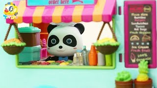 Panda Chef's Cooking Competition | How to Make Colorful Vegetable Food | Play Doh for Kids | ToyBus