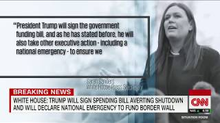 Trump to declare emergency, sign spending bill: White House
