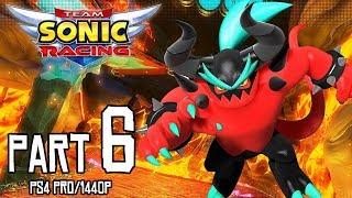 TEAM SONIC RACING Walkthrough PART 6 (PS4 Pro) No Commentary Gameplay @ 1440p (60ᶠᵖˢ) HD ✔