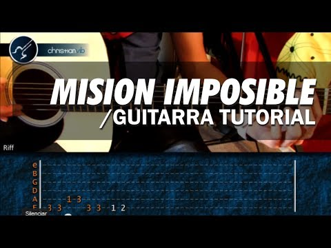 Como tocar MISION IMPOSIBLE Super Facil guitarra acustica LECCION PUNTEOS HD Tutorial