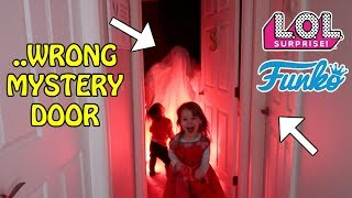 DON'T CHOOSE THE WRONG MYSTERY DOOR! L.O.L. SURPRISE, FUNKO POP OR SPOOKY HALLOWEEN MONSTER INSIDE!!