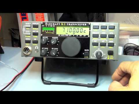 Elecraft K2 transceiver initial power up