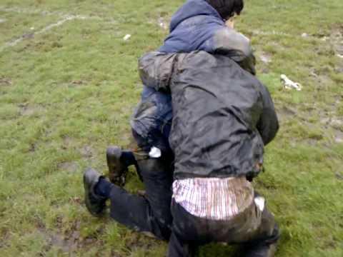2 gay boys Mud Wrestling